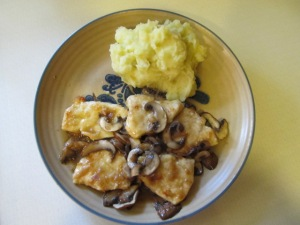 Plated Chicken Marsala